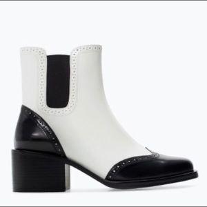 Zara Block Heel Oxford Style Boots